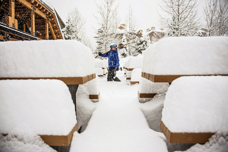 Fresh Powder on the chars and tables at Panorama SkiBookings.com